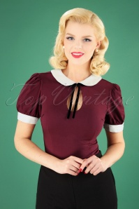 40s Khloe Top in Wine