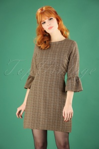 60s Emily Tweed Dress in Brown