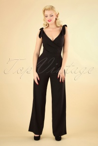 40s Lyla Jumpsuit in Black