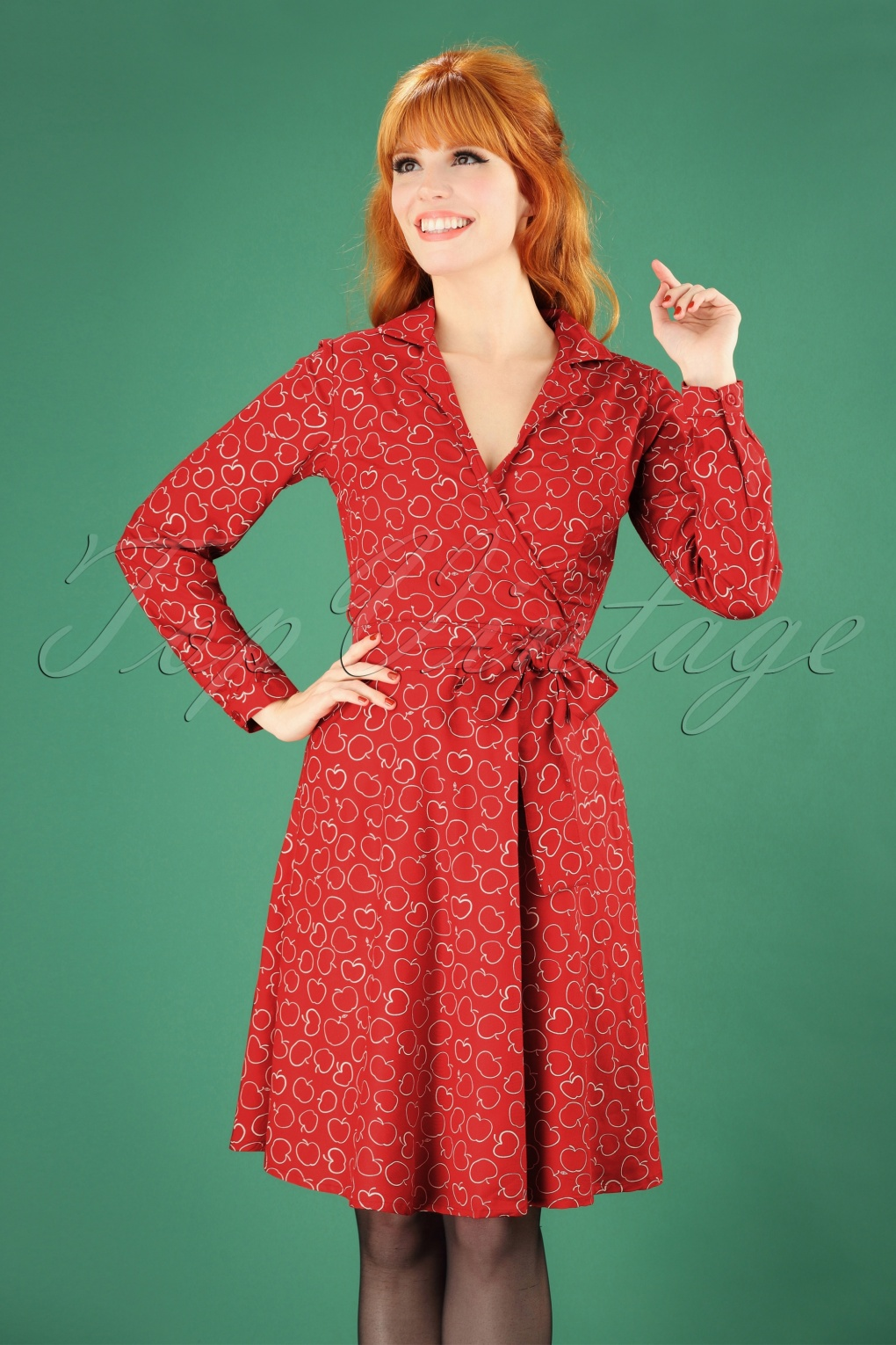 Vintage Coats & Jackets | Retro Coats and Jackets 60s Apple Swing Dress in Red £64.98 AT vintagedancer.com