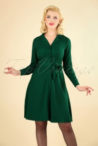 Circus Solid Swing Dress in Green 102 40 25185 20180919 1W