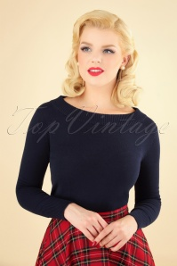 Collectif Clothing Tracy Jumper in Blue 113 31 24797 20180921 001W