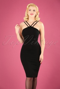 50s Alex Pencil Dress in Black