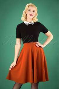 Vintage Chic 50s Sheila Swing Skirt in Cinnamon 122 21 26709 20180911 1W