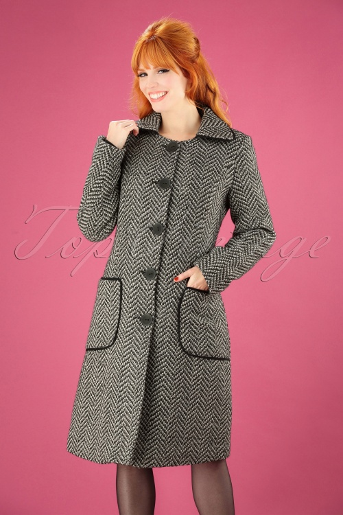 Tante Betsy Tilly Coat in Black and White 152 14 25462 20180912 1W