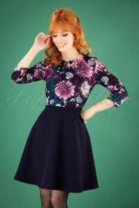 Paper Dolls Blue Floral Dress 26076 20180831 1W