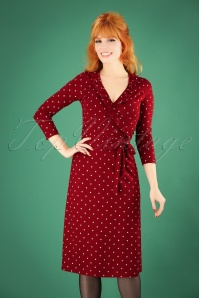Mademoiselle Yeye Red Polkadot Wrap Dress 106 27 25534 20180914 1W