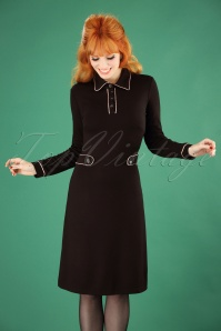 60s April A-Line Dress in Black