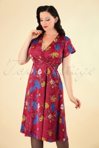Louche Marilyn Floral Red Dress 102 27 25908 20180914 1W