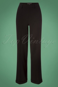 King Louie Ethel Pants in Black 131 10 25349 20180830 0002 1W