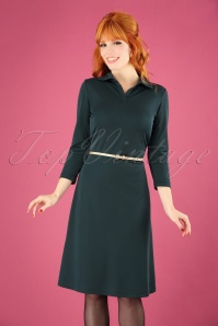Le Pep Florianne Dress in Dark Green 102 40 25958 20180914 1W