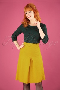 Finette Wool Skirt Années 60 en Mousse Antique