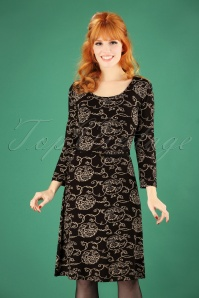 Le Pep Florette Dress in Black 102 14 25953 20180914 1W
