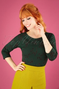 60s Feike Top in Dark Green