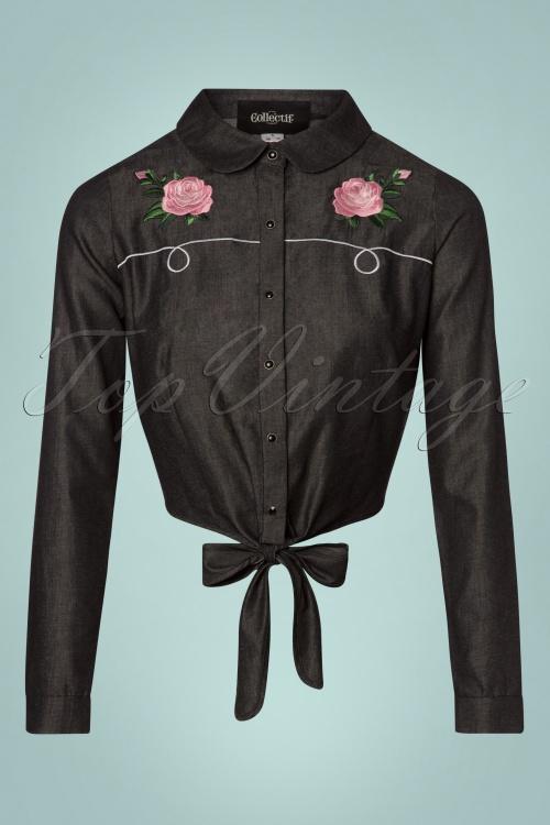 b407dfa8e64e1 Collectif Clothing Samantha Western Rose Tie Blouse 112 10 24857 20180626  0005W