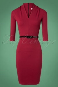 Vintage Chic Wine Red Pencil dress 100 20 28446 20181113 002W