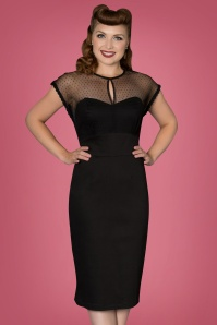 50s Ophra Pencil Dress in Black