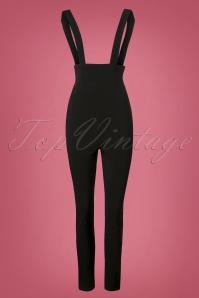 Collectif Clothing Karen Suspender Trousers in Black 131 10 24872 20180629 0001W