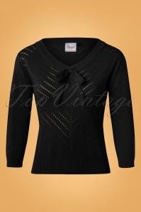 Banned Charlie Chevron Top in Black 26209 20180919 0005W