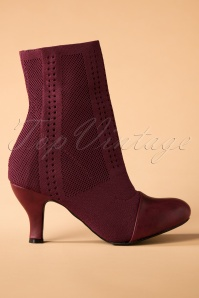 60s Pepper Ankle Sock Booties in Bordeaux