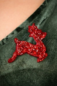 Glitz o Matic Red Deer Brooch 340 24 27999 10042018 004W