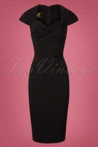 The House of Foxy Foxy Lady Black Pencil Dress 100 10 27715 20181114 002W