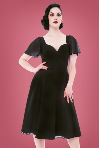 50s Enchantment Swing Dress in Black