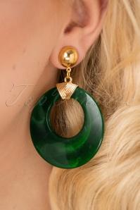 Glitz o Matic Green Hoop earrings 27994 10042018 009W