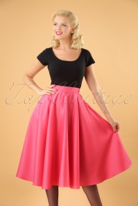 50s Michaella Full Swing Skirt in Pink