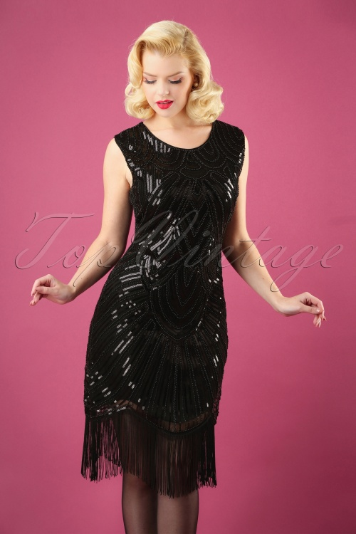 Banned  The Greatest 20s Flapper Dress Black 100 10 26603 20180718 0004W