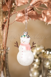 Enchanted Glitter Snowman Bauble