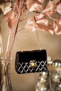 Designer Handbag Bauble in Black and Gold