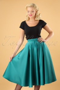 50s Michaella Full Swing Skirt in Teal