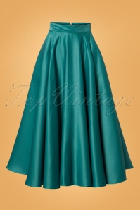 Banned Michaelle Full Circle Skirt in Teal 26237 20180718 0004W
