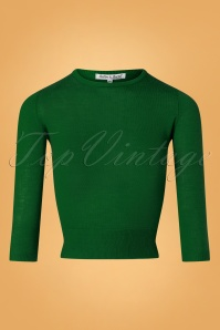 50s Pullover Sweater in Emerald Green