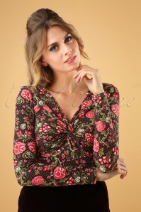Blutsgeschwister Tour D'amour Floral Top 113 14 26038 20181003 0003W