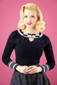 Bunny Blue Bow Sailor Top 113 31 25890 20180912 0002W