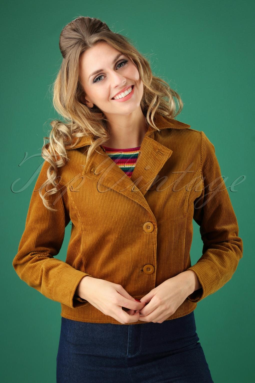 Women's 70s Shirts, Blouses, Hippie Tops 70s Lori Corduroy Jacket in Bronze £71.37 AT vintagedancer.com