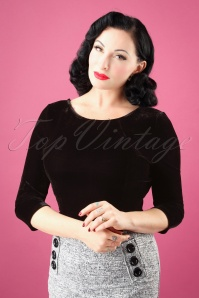 Collectif Clothing Twinnie Velvet Black Top 110 10 24854 20180626 0005W