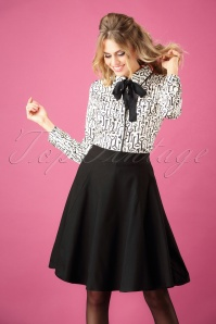 50s Tammy Swing Skirt in Black
