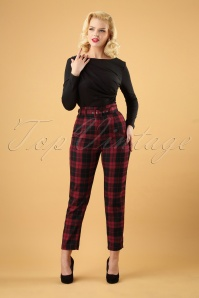 Collectif Clothing Thea Rebel Check Trousers 131 27 24877 20180627 0006W