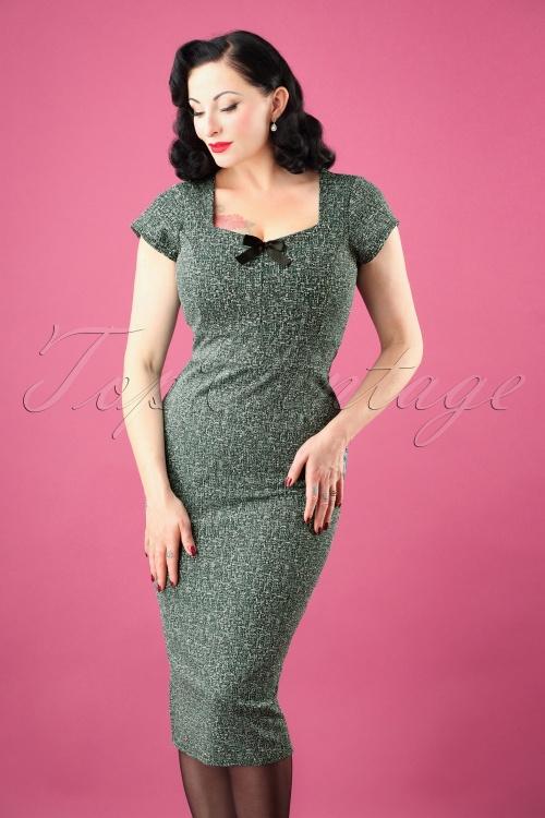 Vintage Chic tweed fabric 50s josie green 100 49 27797 20181008 0219W