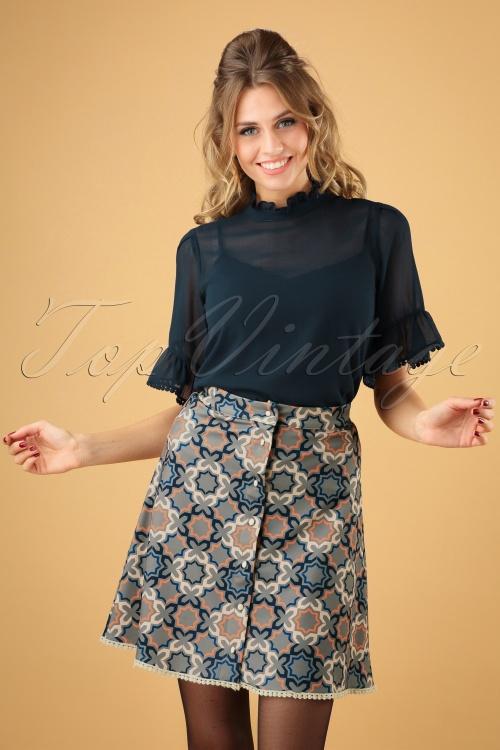 Banned Retro Multi 70s Tile Skirt 123 39 26180 20181018 003W