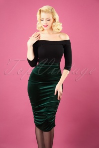 Vintage Chic Plain Velvet Skirt 120 40 28012 20181016 0003W