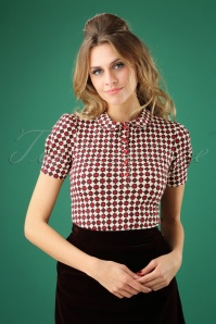60s Bubinette Balkan Top in Jeannies Tiles