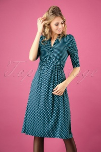 Jolie Moi Blue Pattern Dress 102 39 27517 20180926 0005W