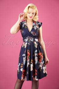 Lady V Eva Dress in Hibiscus  102 39 28060 20181012 0003W