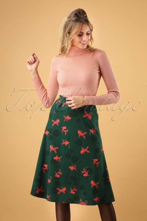 Mademoiselle Yeye Goldfish Maxi Skirt 123 49 25524 20180912 0005W