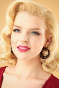 Glitz o Matic Black and Gold Hoop earrings 333 14 26652 11022018 001W