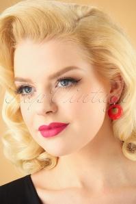 Glitz o Matic Red Hoop earrings 333 20 26654 11022018 001W
